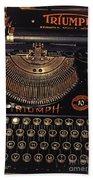 Antiquated Typewriter Beach Towel