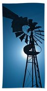 Antique Aermotor Windmill Beach Towel
