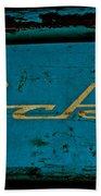Antique Blue Wagon Beach Towel