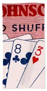 Antique Card Shuffler Beach Towel