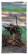 Antique Farm Equipment Beach Towel