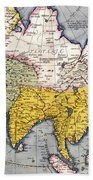 Antique Map Of Asia Beach Towel
