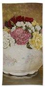 Antique Roses Beach Towel