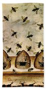 Apiculture-beekeeping-14th Century Beach Towel by Science Source