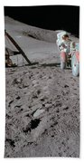 Apollo 15 Astronaut Works At The Lunar Beach Towel