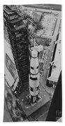 Apollo 500-f Saturn V Rocket Beach Towel