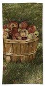 Apples In Basket Beach Towel