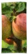 Apples Painterly Beach Towel