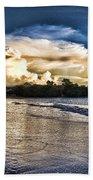 Approaching Storm Clouds Beach Sheet