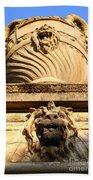 Architectural Detail . Large Urn With Lion Gargoyle  . Hearst Gym . Uc Berkeley . 7d10191 Beach Towel