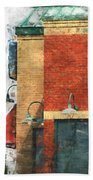 Arcitecture  Painted Effect Beach Towel
