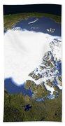Arctic Sea Ice, 1979 Beach Towel