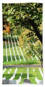 Arlington National Cemetery In The Fall  Beach Towel