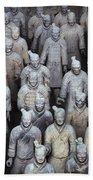 Army Of Terracotta Warriors In Xian Beach Towel