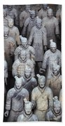Army Of Terracotta Warriors In Xian Beach Sheet