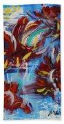 Artful Fireworks Beach Towel