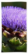 Artichoke Flower  Beach Towel