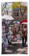 Artist Colony Of Montmartre Beach Towel