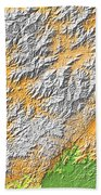 Artistic Map Of Southern Appalachia Beach Towel