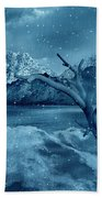 Artists Concept Of A Dangerous Snow Beach Towel by Mark Stevenson