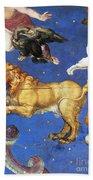 Artwork In Villa Farnese, Italy Beach Towel by Photo Researchers