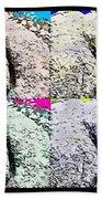 Ass Crack Rock In Quad Colors Beach Towel