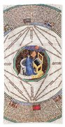 Astrologer In The Zodiac Beach Towel by Science Source