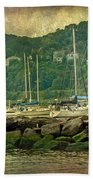 At Home In The Harbor - Atlantic Highlands  Nj Beach Towel