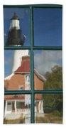 Au Sable Lighthouse Abstract 1 Beach Towel