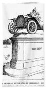 Automobile Cartoon, 1914 Beach Towel