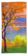 Autum Morning Beach Towel