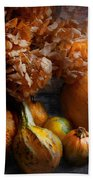 Autumn - Gourd - Still Life With Gourds Beach Towel by Mike Savad