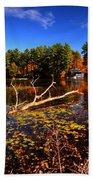 Autumn At Bomoseen Lake  Beach Towel