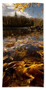 Autumn At Ragged Falls Beach Towel