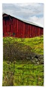 Autumn Barn Painted Beach Towel
