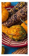 Autumn Basket  Beach Towel by Garry Gay