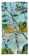Autumn Birches Beach Sheet
