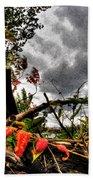 Autumn Breeze Through The Trees    Alt Beach Towel