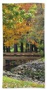 Autumn Bridge Beach Towel