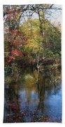 Autumn Colors On The Pond  Beach Towel