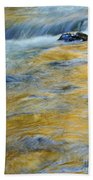 Autumn Colors Reflected In Stream Beach Towel