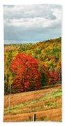 Autumn Farm 2 Beach Towel
