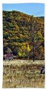 Autumn Farm Painted Beach Towel