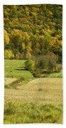 Autumn Farm Vista Beach Towel