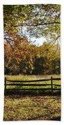Autumn Field In Pennsylvania Beach Towel