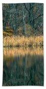Autumn Fisherman Reflections Beach Towel