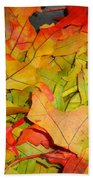 Autumn Gathering Beach Towel