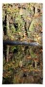 Autumn Gator Beach Towel