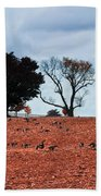 Autumn Geese Beach Towel by Bill Cannon