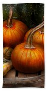Autumn - Gourd - Pumpkins And Some Other Things  Beach Towel